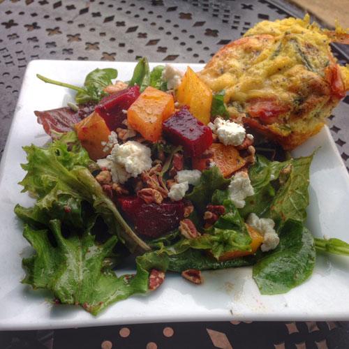 arugula salad quiche