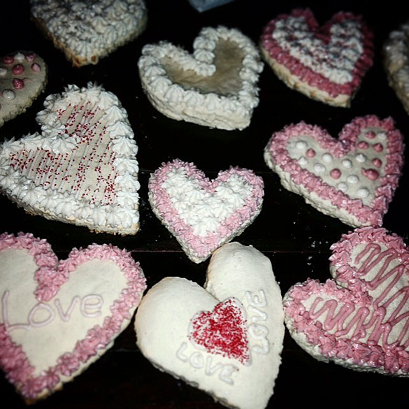 Valentines Day soft iced sugar cookies